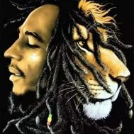 Bob Marley, rund eller fyrkantig 40x50cm