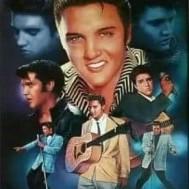 Elvis, fyrkantig eller rund 50x70cm