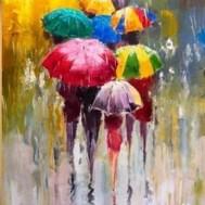 Paraply, fyrkant 50x70cm