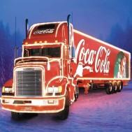 Lastbil Coca Cola, rund 50x40cm