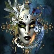 Mask, rund 50x60cm