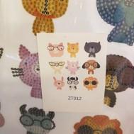 Sticker djur med glasögon