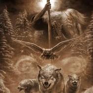 Wolf pack, fyrkant 60x80cm