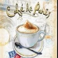 Café de Paris, fyrkant 40x50cm