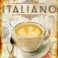 Café de Italiano, fyrkant 40x50cm