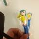 Polymér dutt penna rund spets - Blå