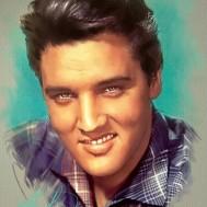 Elvis, Rund 50x60cm