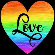 Pride hjärta, fyrkant 40x40cm