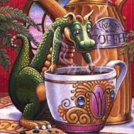 Drake kaffe, fyrkant 40x50cm