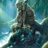 Star Wars Yoda, fyrkant 40x50cm