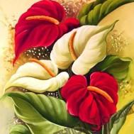 Blommor, fyrkant, 40x50cm