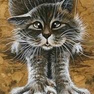 Katt rund eller fyrkant 30x40cm