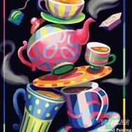 Kaffe vintage, rund eller fyrkant 30x40cm