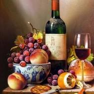 Röd vin apelsin, fyrkant eller rund 40x50cm