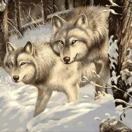 Vargar vinter, rund eller fyrkantig