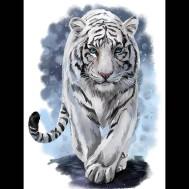 Vit tiger, rund eller fyrkant 50x60cm
