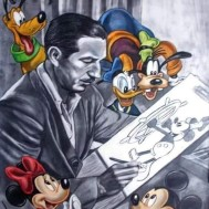 Walt Disney 40x50cm rund