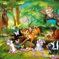 Bambi och vänner 70x50cm rund