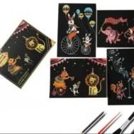 Scratch painting 4 pack cirkus