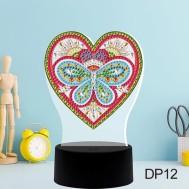 LED lampa hjärta