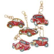Nyckelring vintage bilar 5 pack diamondpainting