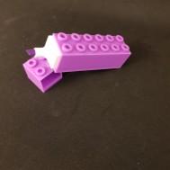 Överstrykningspenna Legobit lila