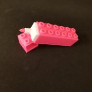 Överstrykningspenna Legobit rosa