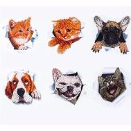 Klistermärken katt och hund
