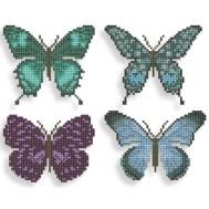Klistermärken fjärilar