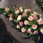 Liggande dekoration, rosa