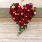 Hjärta i röda toner