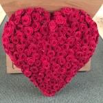 Rött hjärta - stort