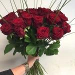 Bukett röda rosor