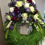 Cypresskrans Blå , lila, vit