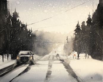 Winter road -