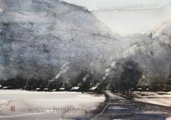 Bergvägg -