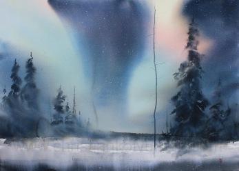 Gicléetryck Aurora Borealis II - Gicléetryck Aurora Boralis II A4