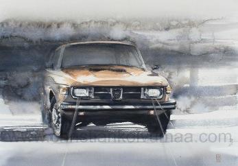 Gicléetryck Saab 99 - Gicléetryck Saab 99 A4