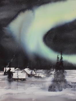 Gicléetryck Aurora Borealis IV - Gicléetryck Aurora Borealis IV A4
