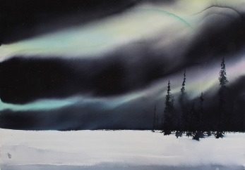Gicléetryck Aurora Borealis VI - Gicléetryck Aurora Borealis A3