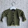 Barnkofta i bomull - Grön/svart barnkofta