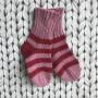 Barnsockor i bomull - Rosa/röd barnsocka