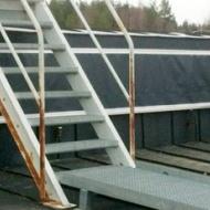 Specialdraperi för täckning av ventilation. Stängd