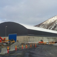 Lagerhall med port Narvik