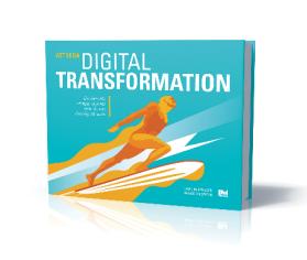 """Forskningen landade i den egenutvecklade arbetsmetodiken """"Den Digitala Mognadsmatrisen"""" som syftar till att hjälpa styrelse och ledning att ta kommandot i sin transformation. Metodiken beskrivs steg för steg i boken """"Att leda digital transformation""""."""