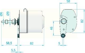 Torkarmotor W05 24v -