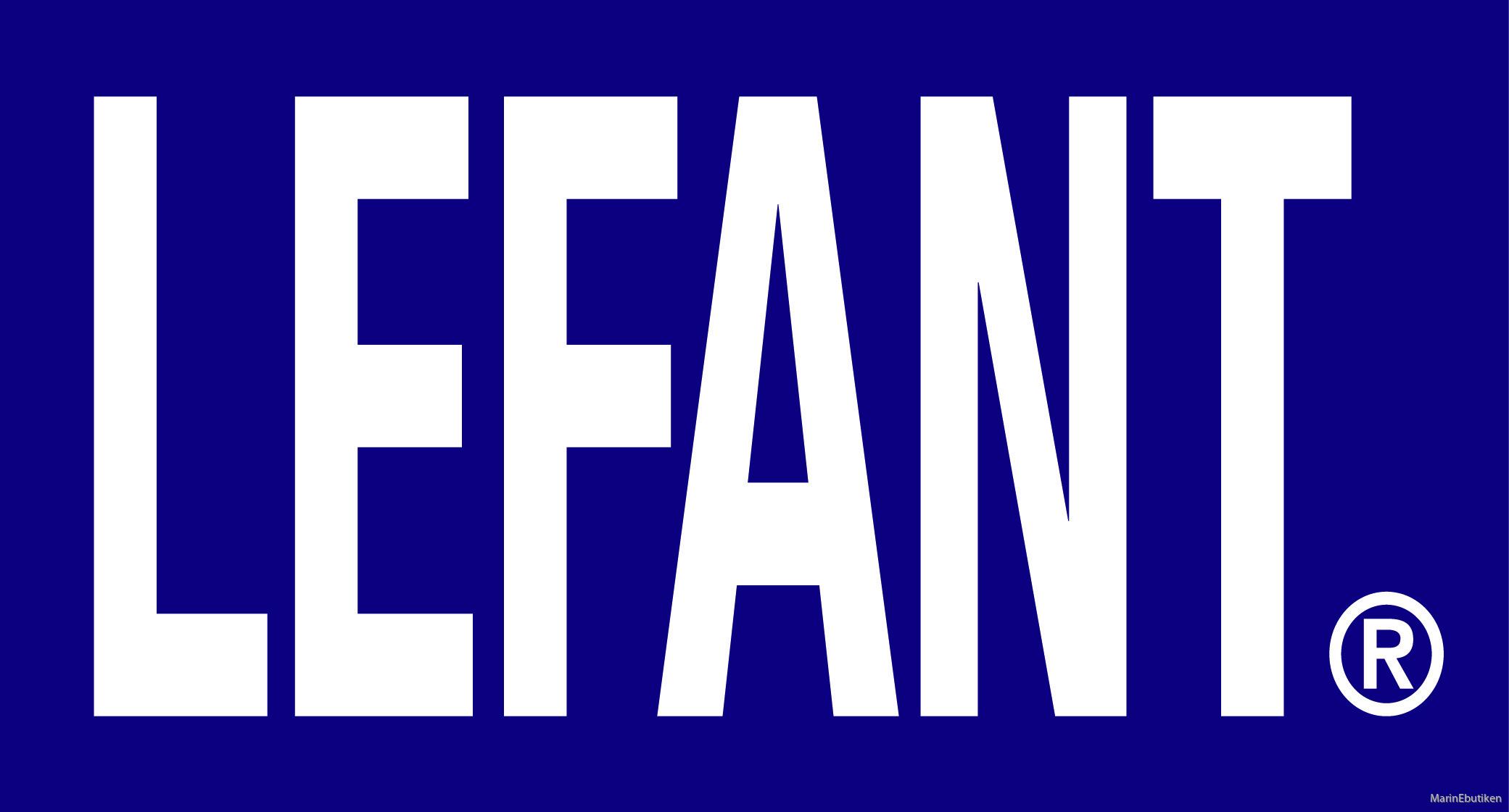 LEFANT logo blå