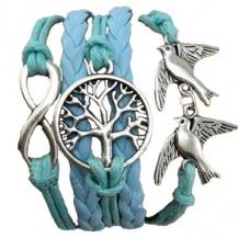 Peace and love armband