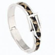 Bältesarmband silverfärg Leopard