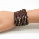 Armband breda Brun